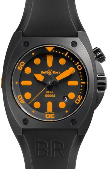 Bell-Ross-Marine-Black-Orange-Replica