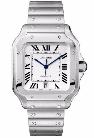 The whole delicate replica Cartier watch completely shows the metal charm.
