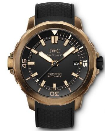 Whether for the bronze case or the black appearance design, this replica IWC watch all can be said as an eye-catching one.