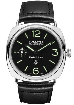 With green scale and pointers, that highlights the whole design style of this fake Panerai watch.