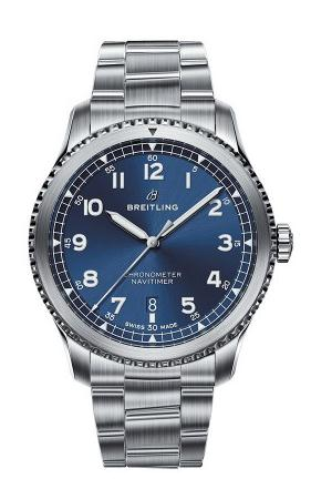 For the eye-catching blue dial and cool stainless steel case and bracelet, this replica Breitling watch leaves people a deep impression.