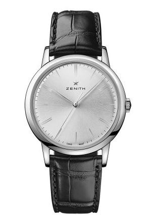 For the silver dial, this replica Zenith watch directly shows an elegant design style.
