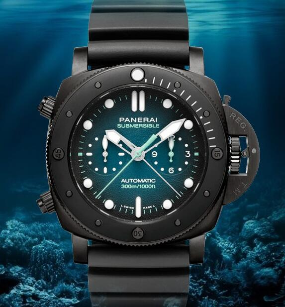 The blue gradient dial perfect interprets the scene under the sea.