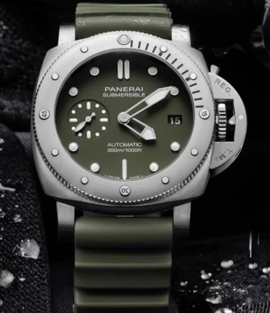 It is the first time that Panerai adopts the green to decorate its diving watches.