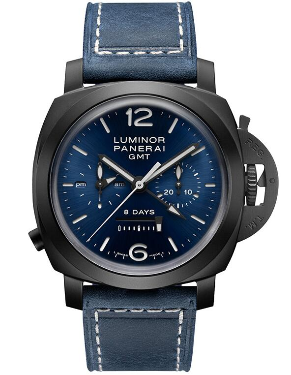 Swiss fake watches keep evident charm with blue color.
